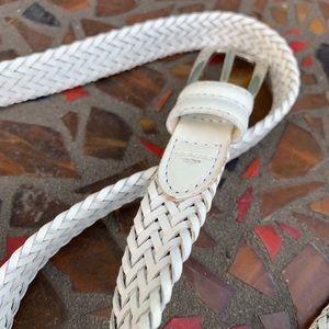 Dockers White Weave Belt